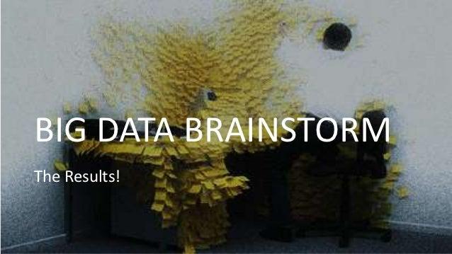 BIG DATA BRAINSTORMThe Results!