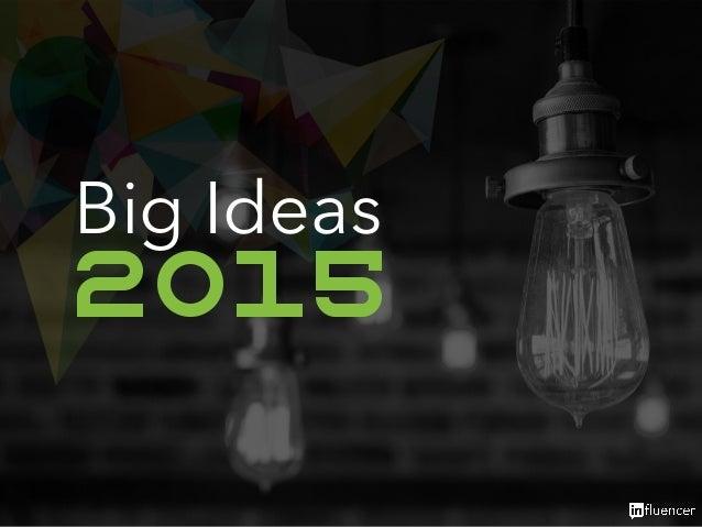 Big Ideas  2015