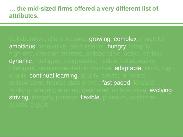 We asked respondents which management consulting brands they admire and why.