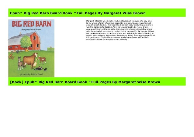 Epub Big Red Barn Board Book Full Pages By Margaret Wise Brown