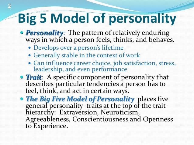essay on the big five personality traits
