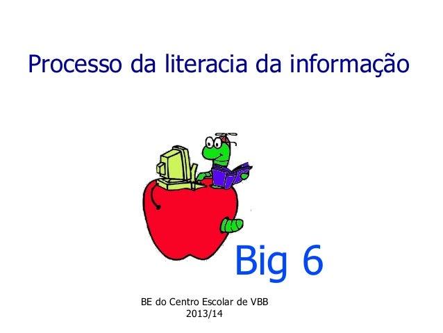 Processo da literacia da informação Big 6 BE do Centro Escolar de VBB 2013/14