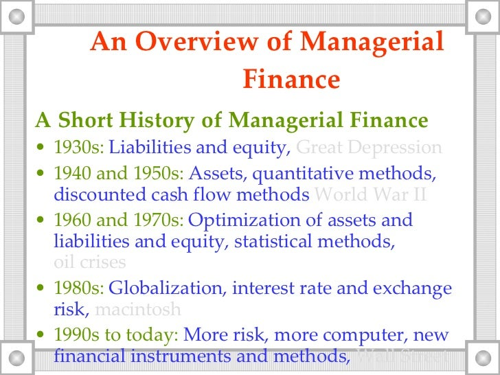 traditional approach of financial management Project management is the practice of initiating, planning, executing, controlling, and closing the work of a team to achieve specific goals and meet specific success criteria at the specified time a project is a temporary endeavor designed to produce a unique product, service or result with a defined beginning and end (usually time.