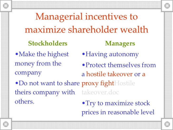 shareholder wealth maximization essay Are shareholders obsolete in a nutshell, his argument is that shareholder wealth maximization has failed to maximize shareholder wealth.