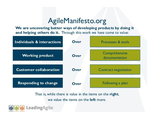 (Big) AgileManifesto.org We are uncovering better ways of developing products by doing it and helping others do it. Throug...