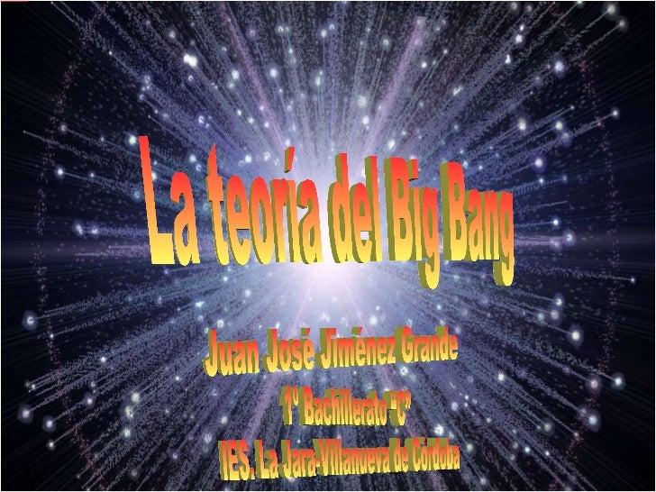 la teor a del big bang