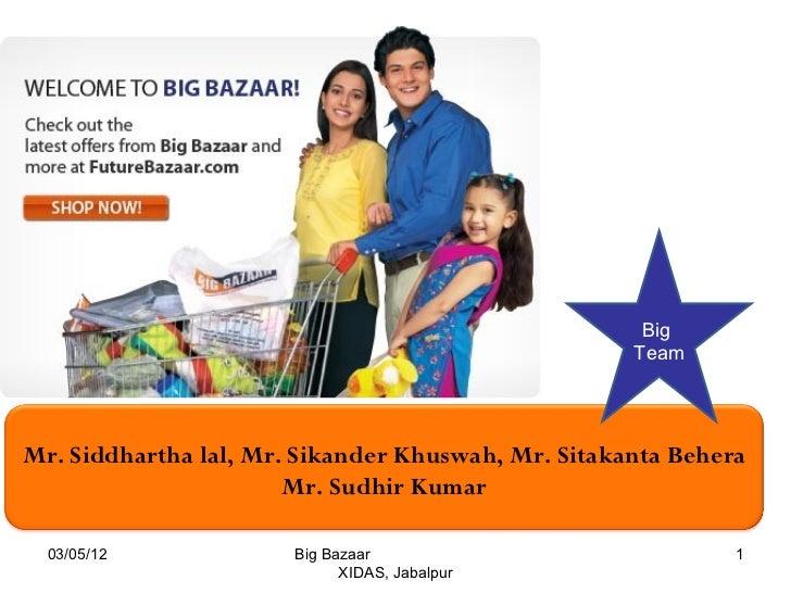 Big                                                    TeamMr. Siddhartha lal, Mr. Sikander Khuswah, Mr. Sitakanta Behera ...
