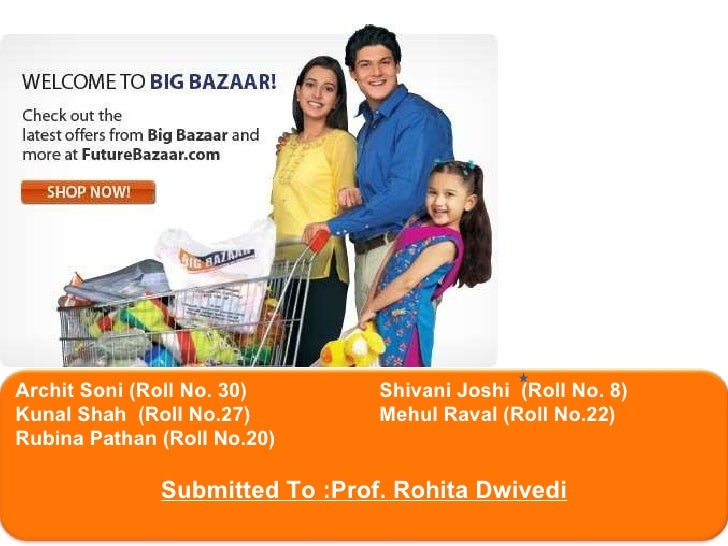 type retailing and pages big bazaar