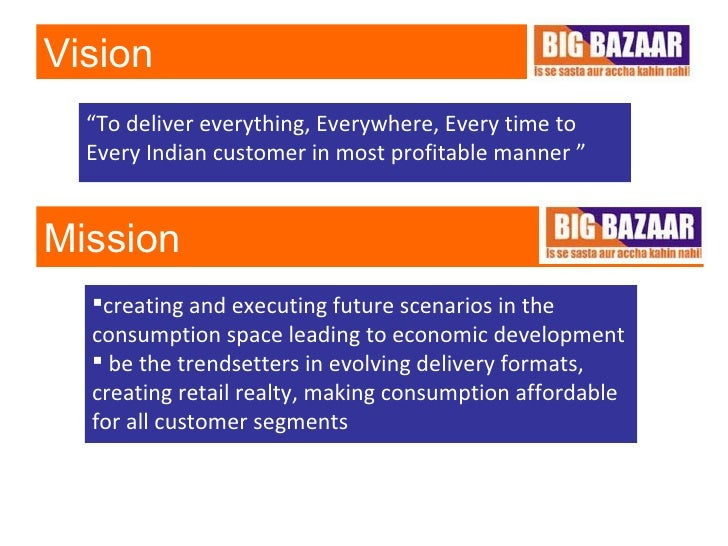 big bazaar one of leading indian retail chains 1 big bazaar and aditya birla retail more: a comparative study 2 objectives of the project organized retail in india is still in its nascent stages and the companies selected big bazaar is the largest hypermarket chain in india it was started by mr kishore biryani, the group ceo and.