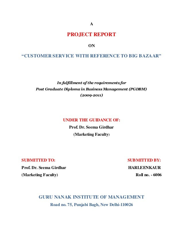 """project on big bazaar Research project report on """"a study on buying behavior of customers in big bazaar bansankari"""" submitted for partial fulfillment of award of master`s degree in business administration."""