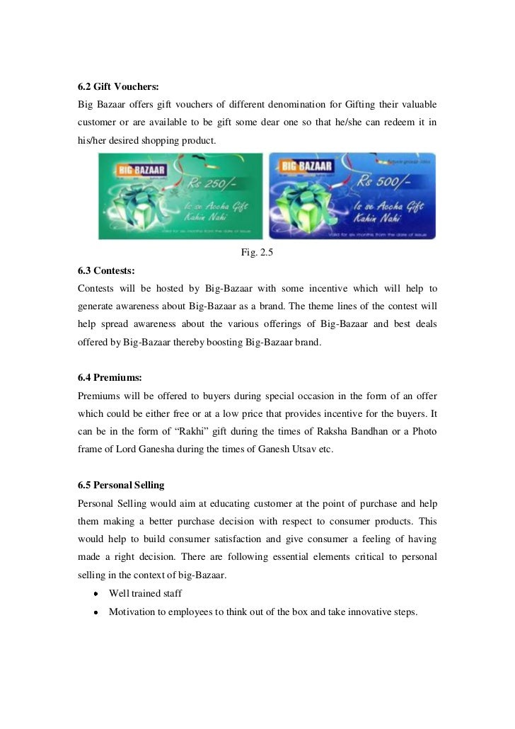 annual report of big bazaar Retail entrepreneurship development in india: a case study of big bazaar aehsan-ul-haq 1 articles & annual report.