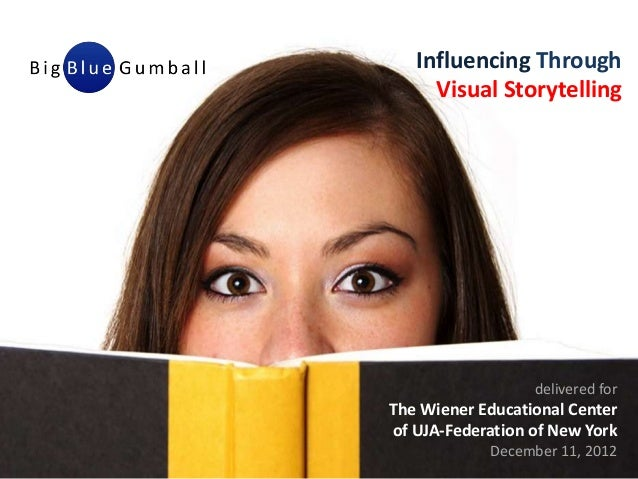 Influencing Through     Visual Storytelling                  delivered forThe Wiener Educational Centerof UJA-Federation o...