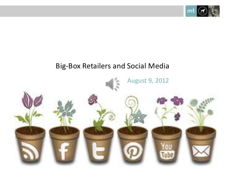 Big-Box Retailers and Social Media                     August 9, 2012