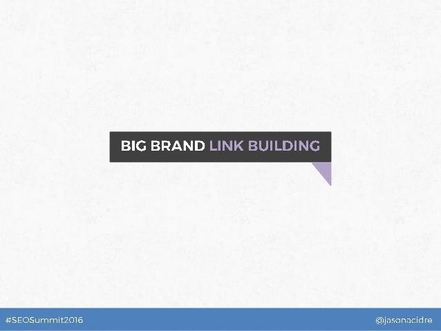 Big Brand Link Building