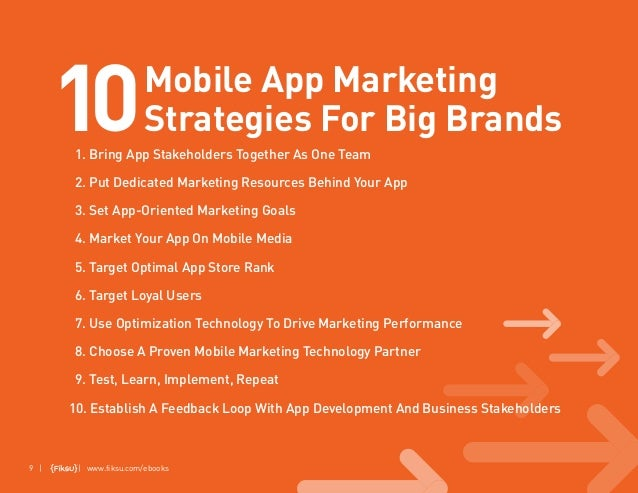 9 10 Mobile App Marketing Strategies