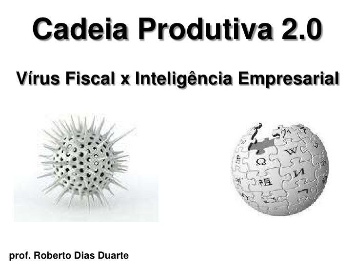 Cadeia Produtiva 2.0  Vírus Fiscal x Inteligência Empresarial     prof. Roberto Dias Duarte