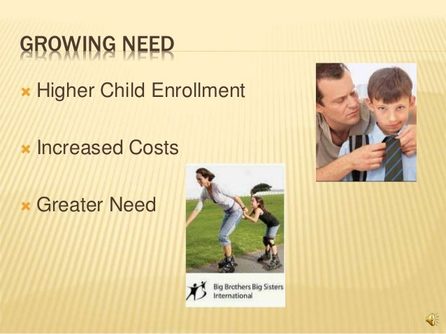 GROWING NEED  Higher Child Enrollment  Increased Costs  Greater Need