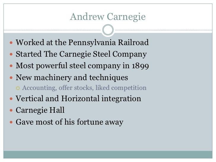 How Did Vertical Integration Help The Carnegie Steel Business ...