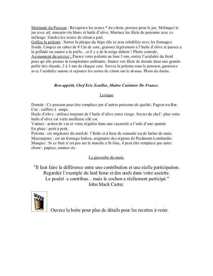 Big club recette du mois janvier 2012 Slide 2