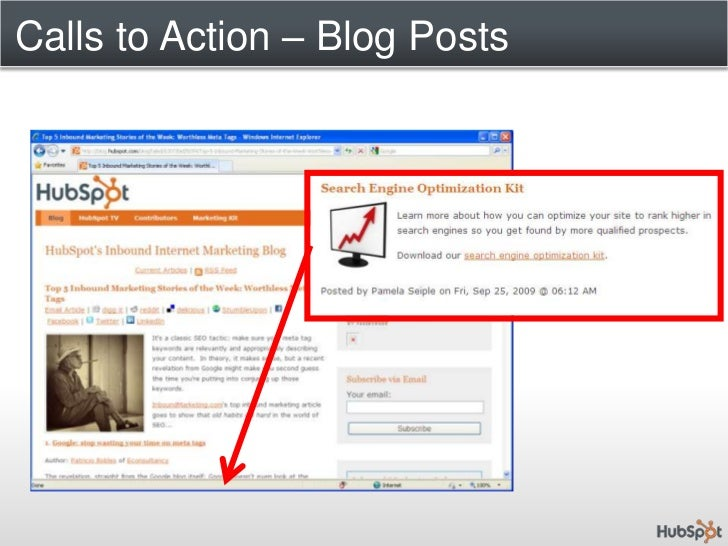 Calls to Action<br />