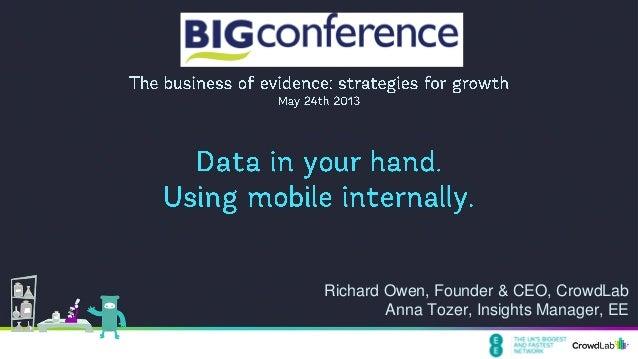 Richard Owen, Founder & CEO, CrowdLabAnna Tozer, Insights Manager, EE