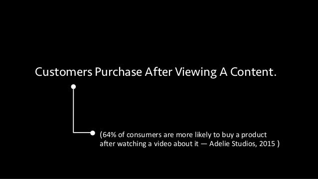 Customers Purchase After Viewing A Content. (64%  of  consumers  are  more  likely  to  buy  a  product...