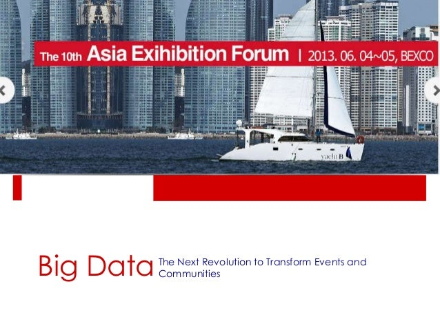 Big DataThe Next Revolution to Transform Events andCommunities
