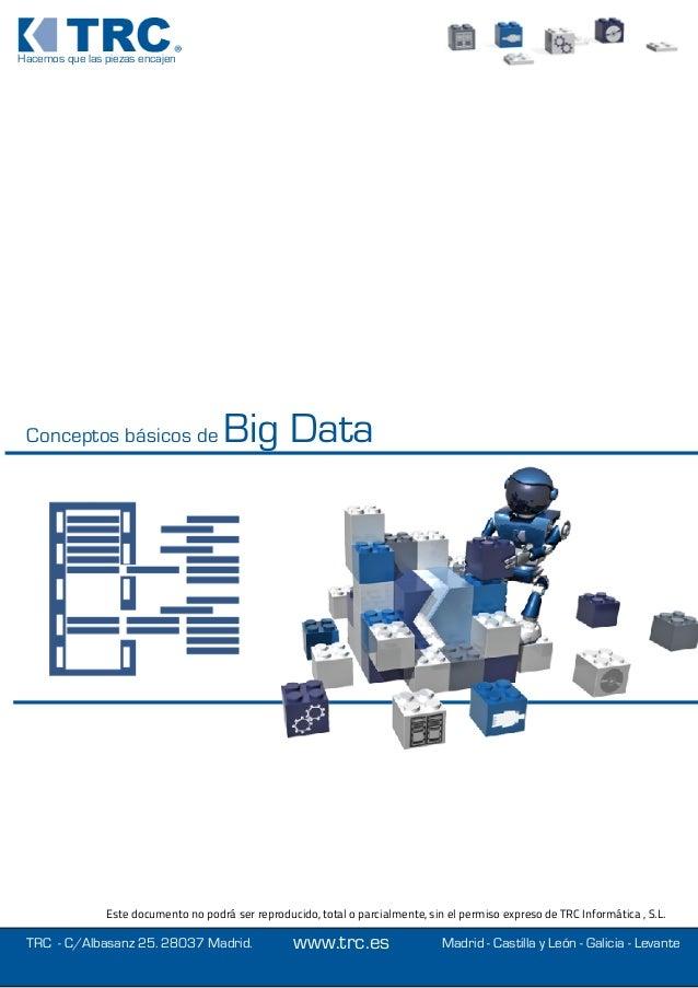 Hacemos que las piezas encajen Conceptos básicos de Big Data TRC - C/Albasanz 25. 28037 Madrid. Este documento no podrá se...