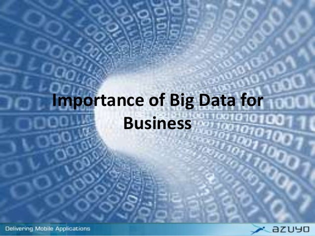 Importance of Big Data for Business
