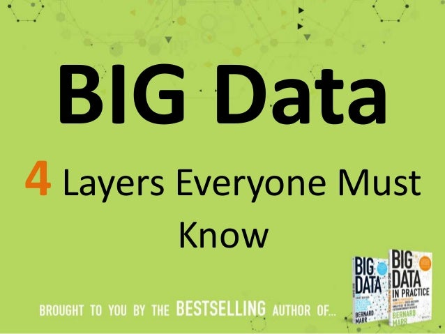 BIG Data 4 Layers Everyone Must Know