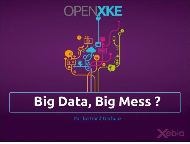 Big Data, Big Mess ? Par Bertrand Dechoux  1