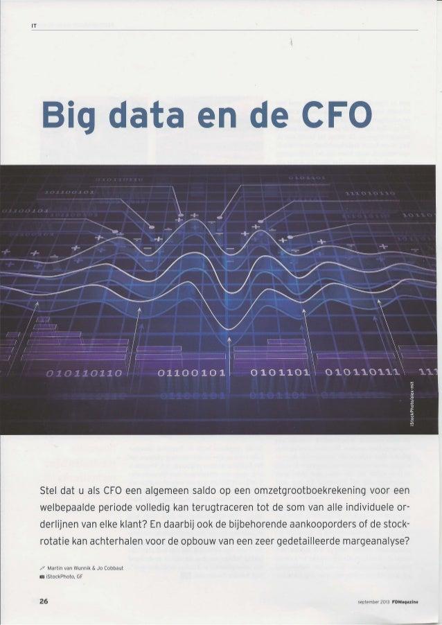 FD Magazine: Bigdata en de CFO