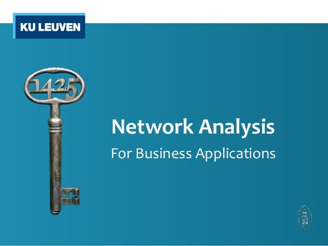 Network Analysis  For Business Applications
