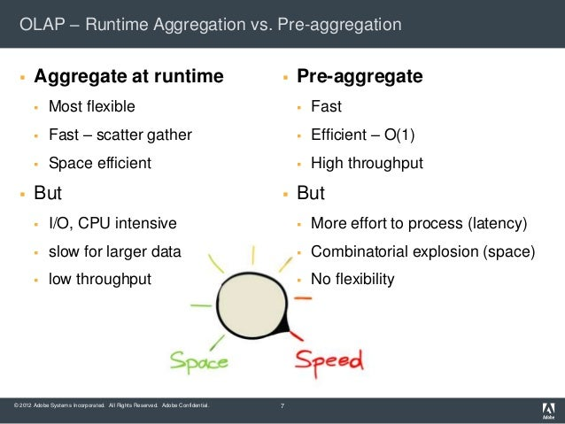 OLAP – Runtime Aggregation vs. Pre-aggregation      Aggregate at runtime                                                 ...