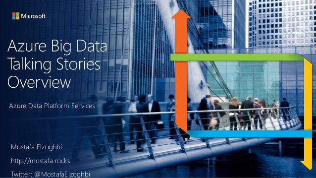 Azure Data Platform Services Mostafa Elzoghbi http://mostafa.rocks Twitter: @MostafaElzoghbi