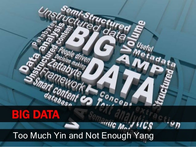 BIG DATAToo Much Yin and Not Enough Yang