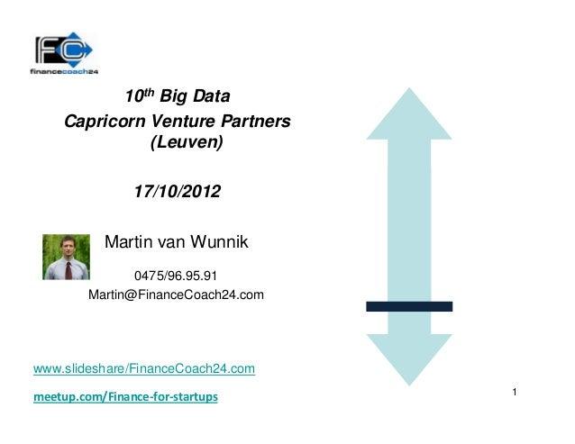 10th Big Data    Capricorn Venture Partners              (Leuven)                17/10/2012           Martin van Wunnik   ...