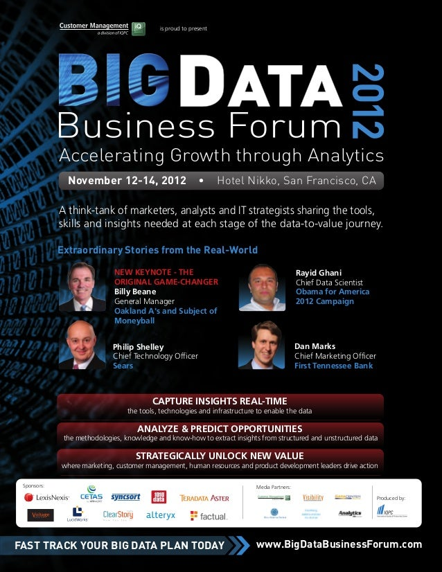 is proud to present             Accelerating Growth through Analytics               November 12-14, 2012                  ...