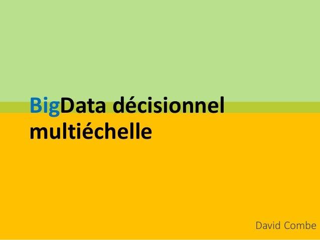 BigData décisionnel multiéchelle David Combe