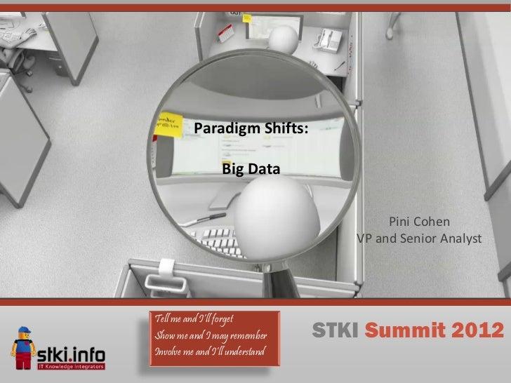 Paradigm Shifts:                 Big Data                                         Pini Cohen                              ...