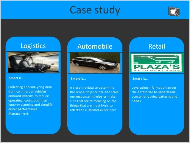 Case study More… Automobile Smart is... we use the data to determine the scope, to prioritize and scale our response. It h...