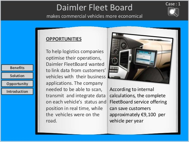 Daimler Fleet Board makes commercial vehicles more economical OPPORTUNITIES To help logistics companies optimise their ope...