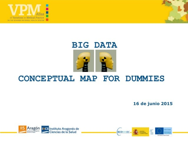 BIG DATA CONCEPTUAL MAP FOR DUMMIES 16 de junio 2015