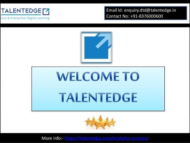 analytics certification courses