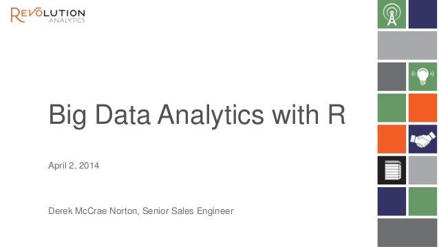 Big Data Analytics with R Derek McCrae Norton, Senior Sales Engineer April 2, 2014