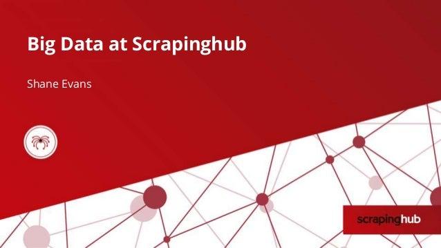 Big Data at Scrapinghub Shane Evans