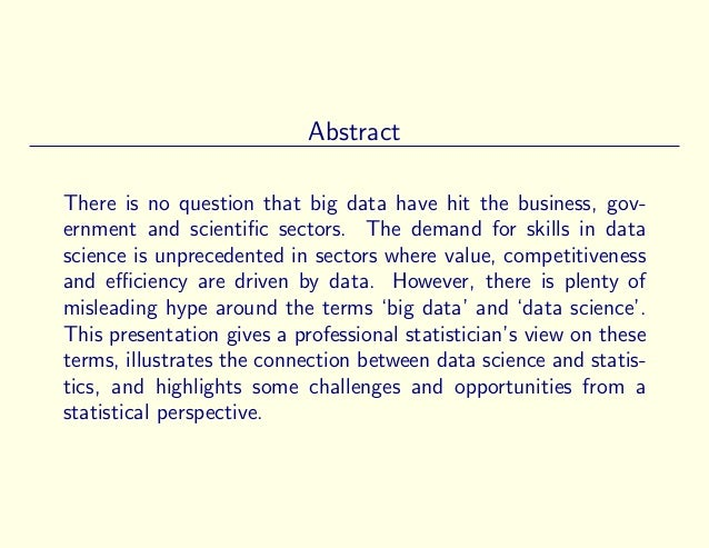 A Statistician's View on Big Data and Data Science (Version 2) Slide 2