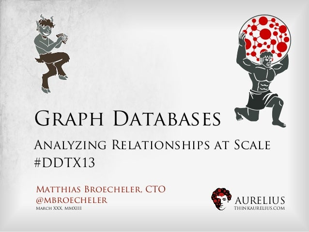 Graph DatabasesAnalyzing Relationships at Scale#DDTX13Matthias Broecheler, CTO@mbroecheler               AURELIUSMarch XXX...