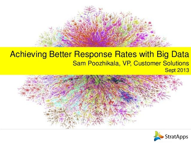 Achieving Better Response Rates with Big Data Sam Poozhikala, VP, Customer Solutions Sept 2013