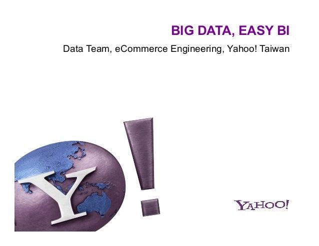 BIG DATA, EASY BI Data Team, eCommerce Engineering, Yahoo! Taiwan